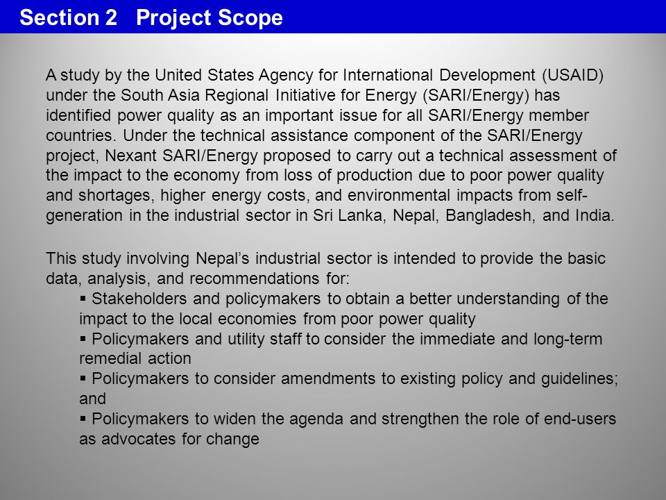 Section 2 Project Scope