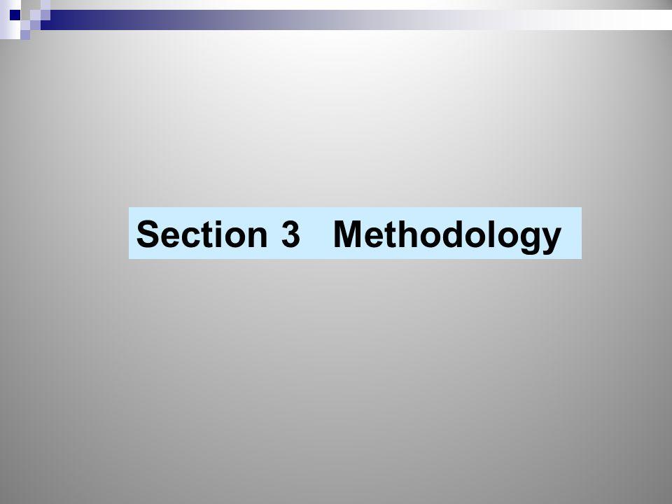 Section 3 Methodology