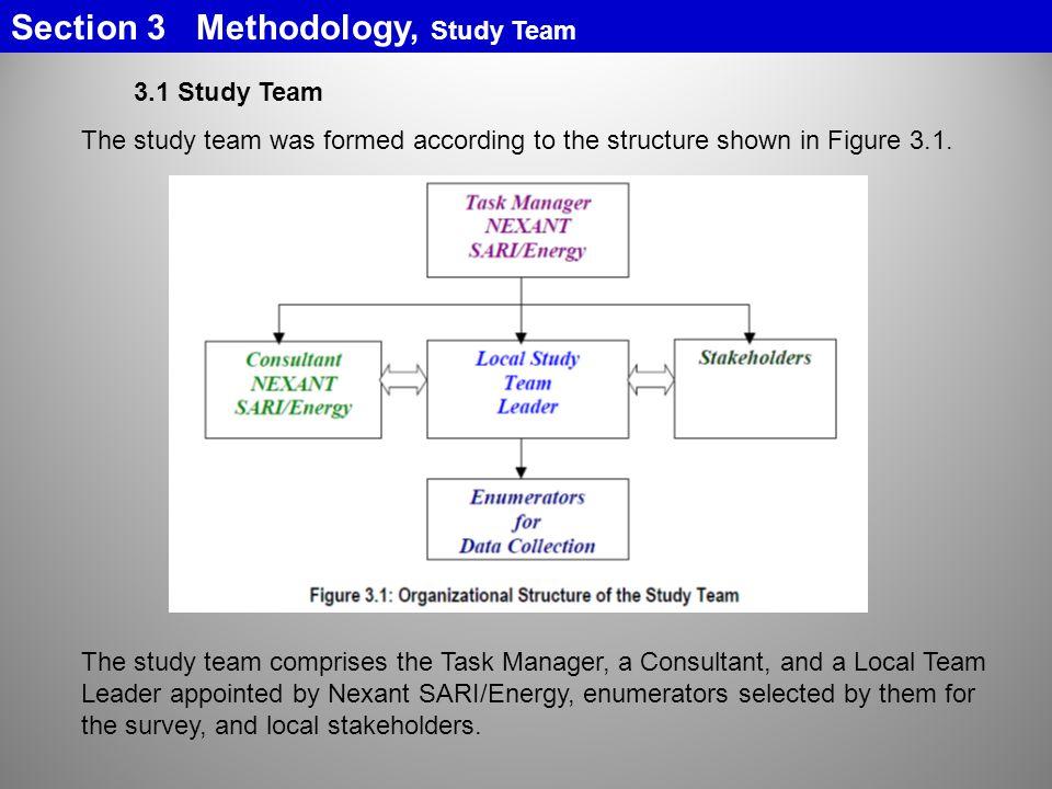 Section 3 Methodology, Study Team