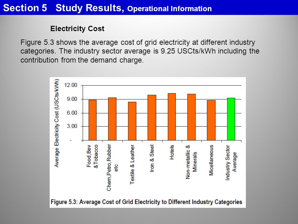 Section 5 Study Results, Operational Information