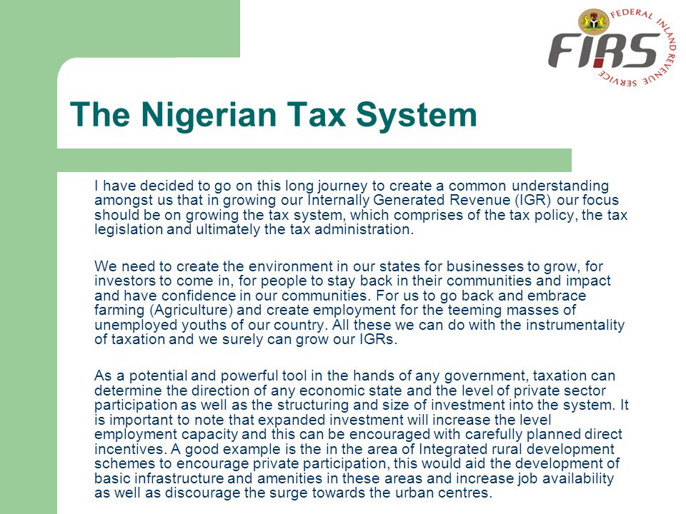 The Nigerian Tax System