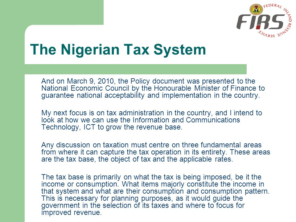 The Nigerian Tax System