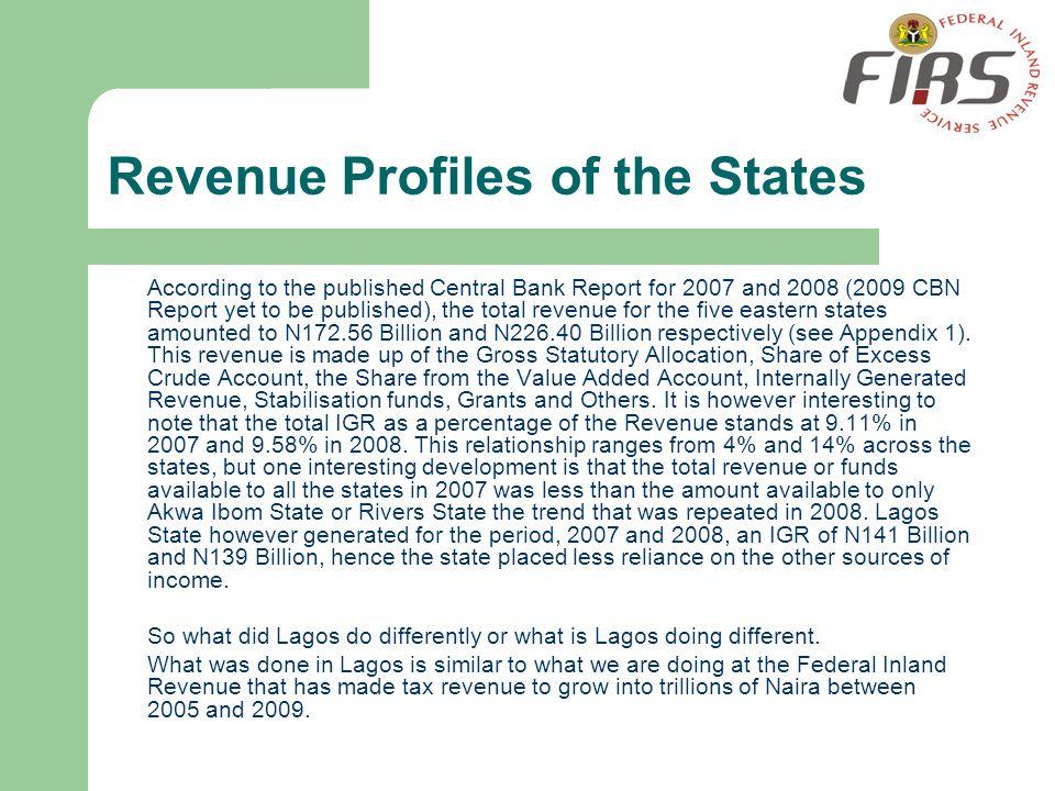 Revenue Profiles of the States