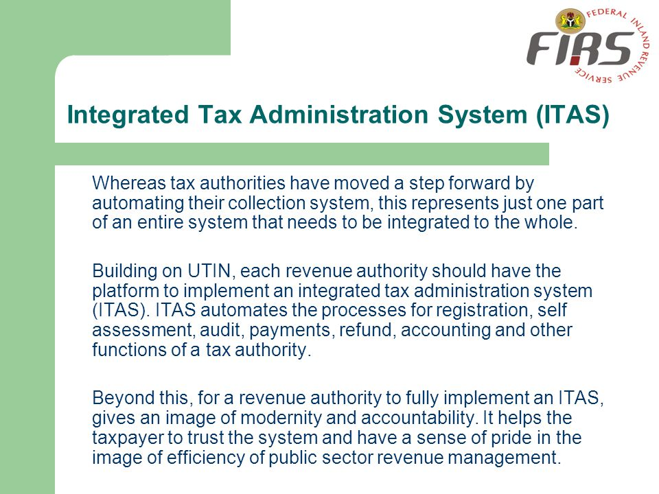 Integrated Tax Administration System (ITAS)
