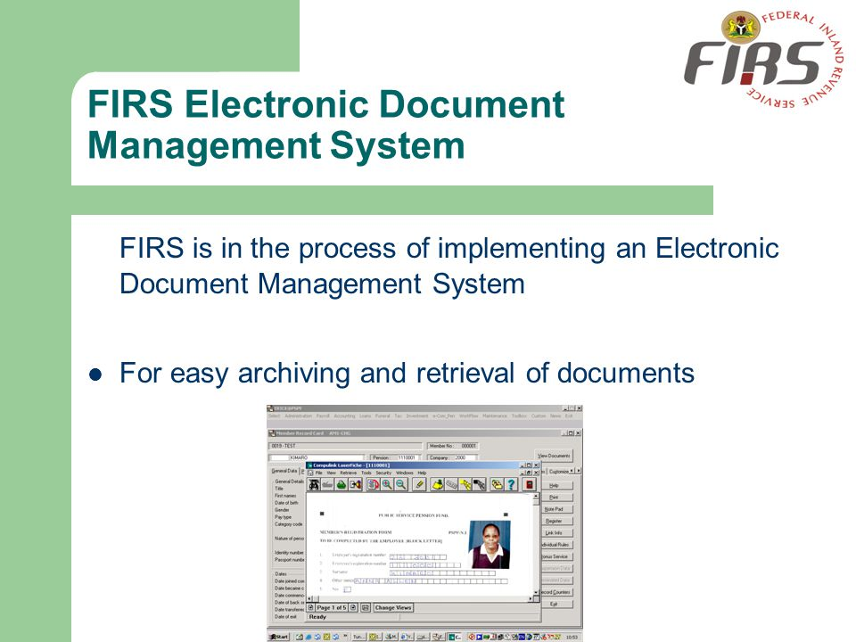 FIRS Electronic Document Management System