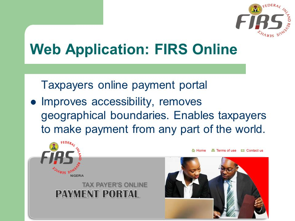 Web Application: FIRS Online