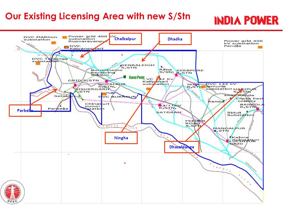 Our Existing Licensing Area with new S/Stn