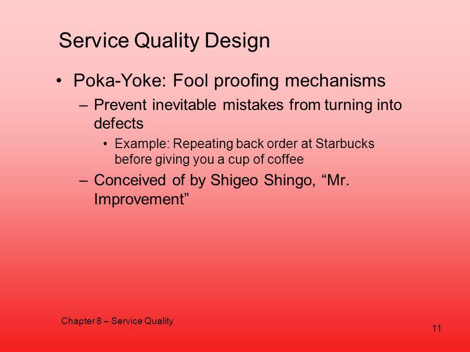 Service Quality Design