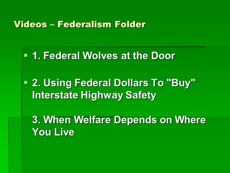 Videos – Federalism Folder