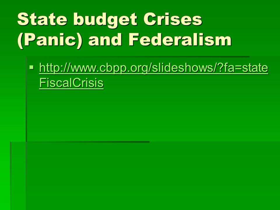 State budget Crises (Panic) and Federalism