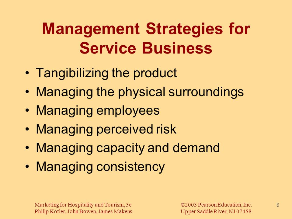 Management Strategies for Service Business