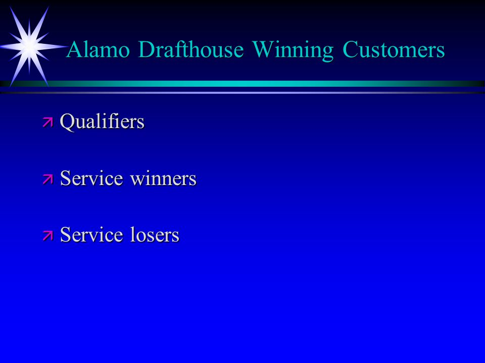 Alamo Drafthouse Winning Customers
