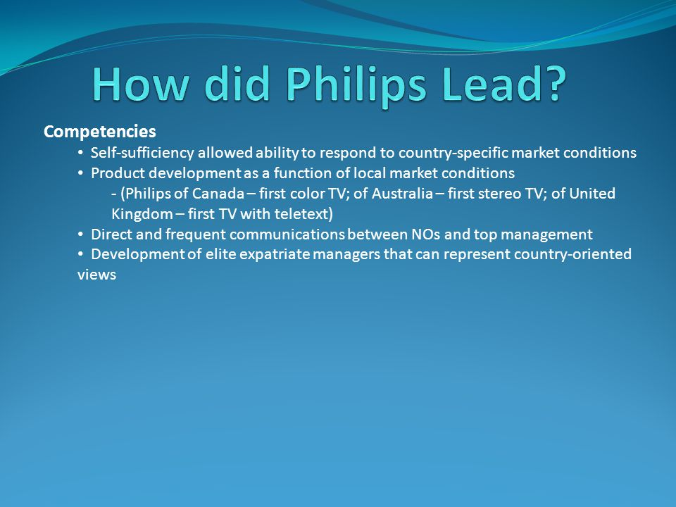 How did Philips Lead Competencies
