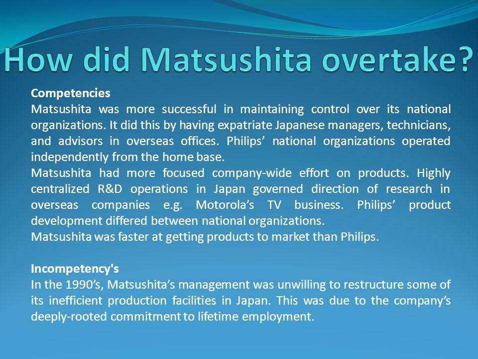 How did Matsushita overtake