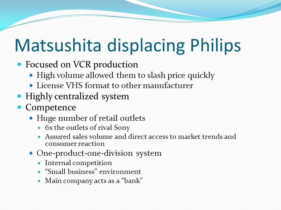 Matsushita displacing Philips