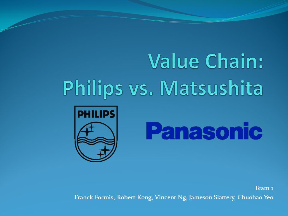 Value Chain: Philips vs. Matsushita