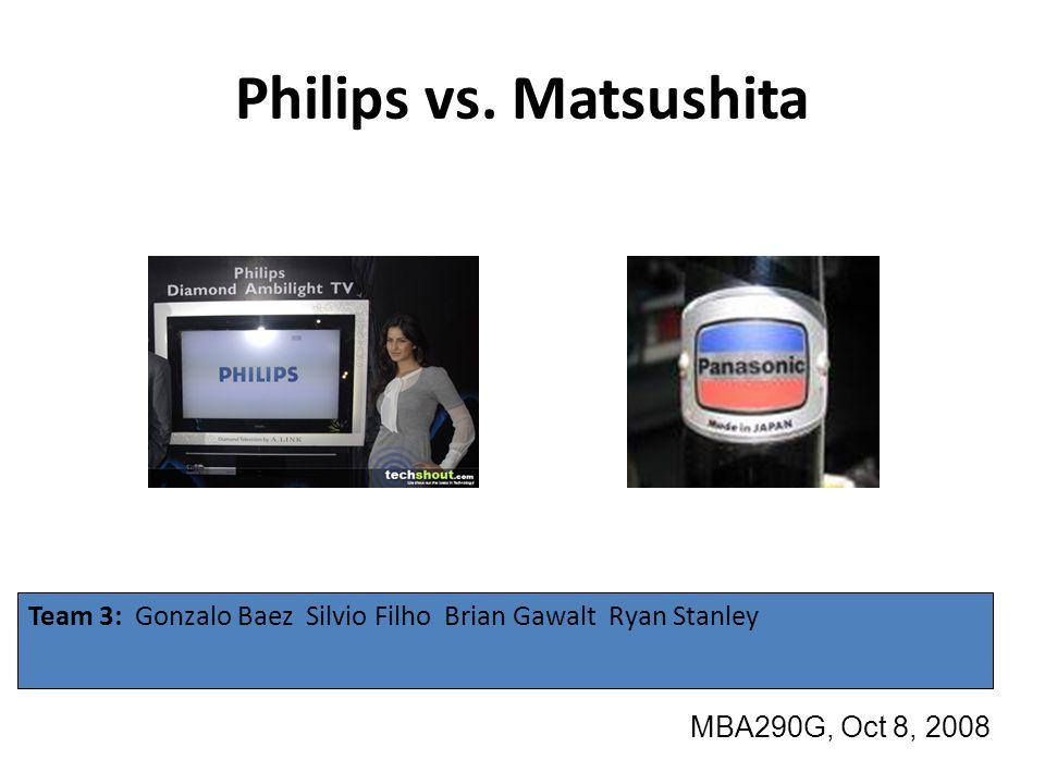 Philips vs. Matsushita Team 3: Gonzalo Baez Silvio Filho Brian Gawalt Ryan Stanley.