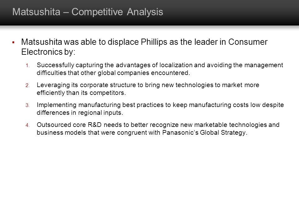 Matsushita – Competitive Analysis