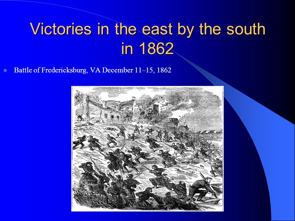 Victories in the east by the south in 1862