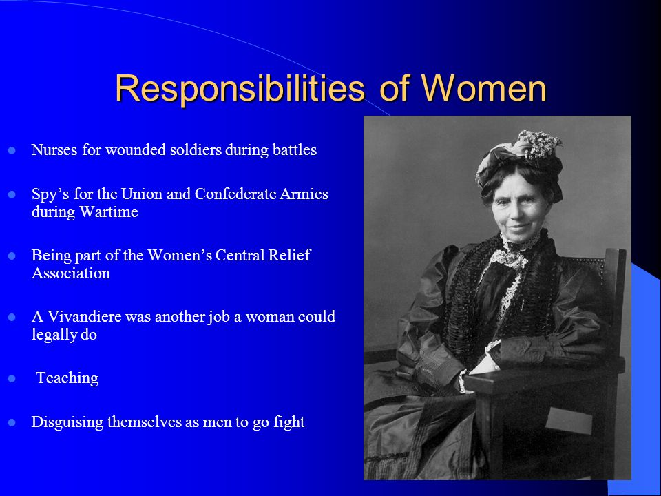 Responsibilities of Women