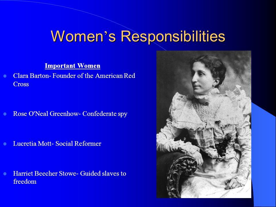 Women's Responsibilities