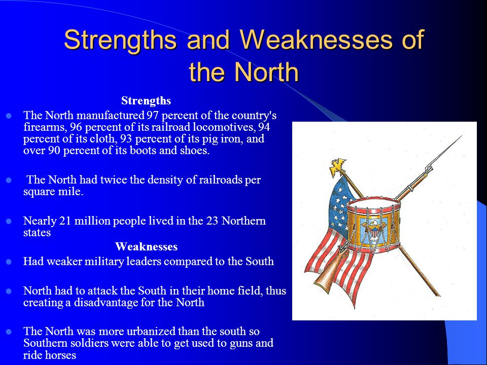 Strengths and Weaknesses of the North