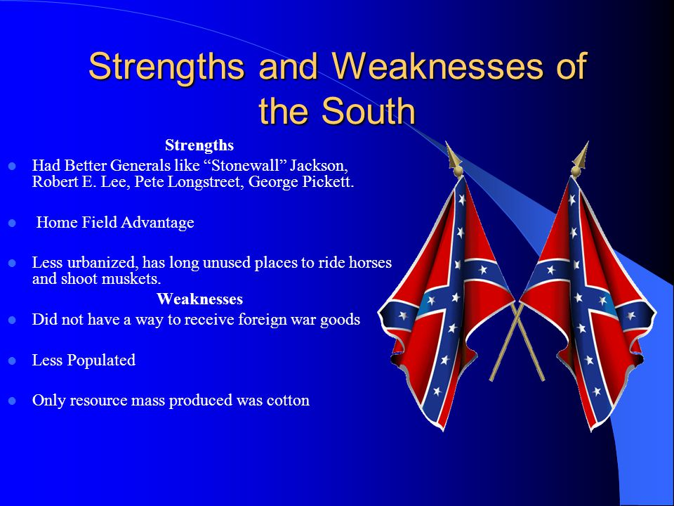 Strengths and Weaknesses of the South