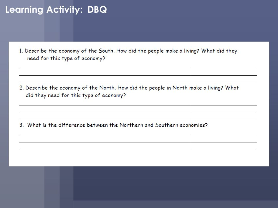 Learning Activity: DBQ