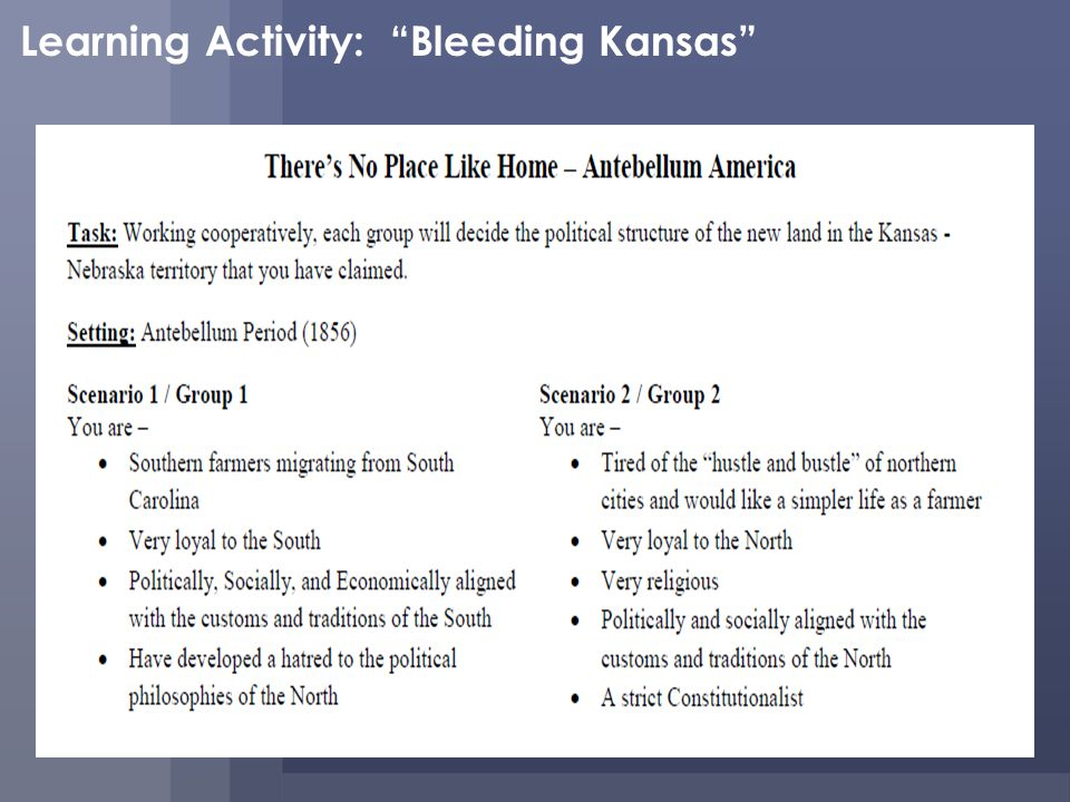 Learning Activity: Bleeding Kansas