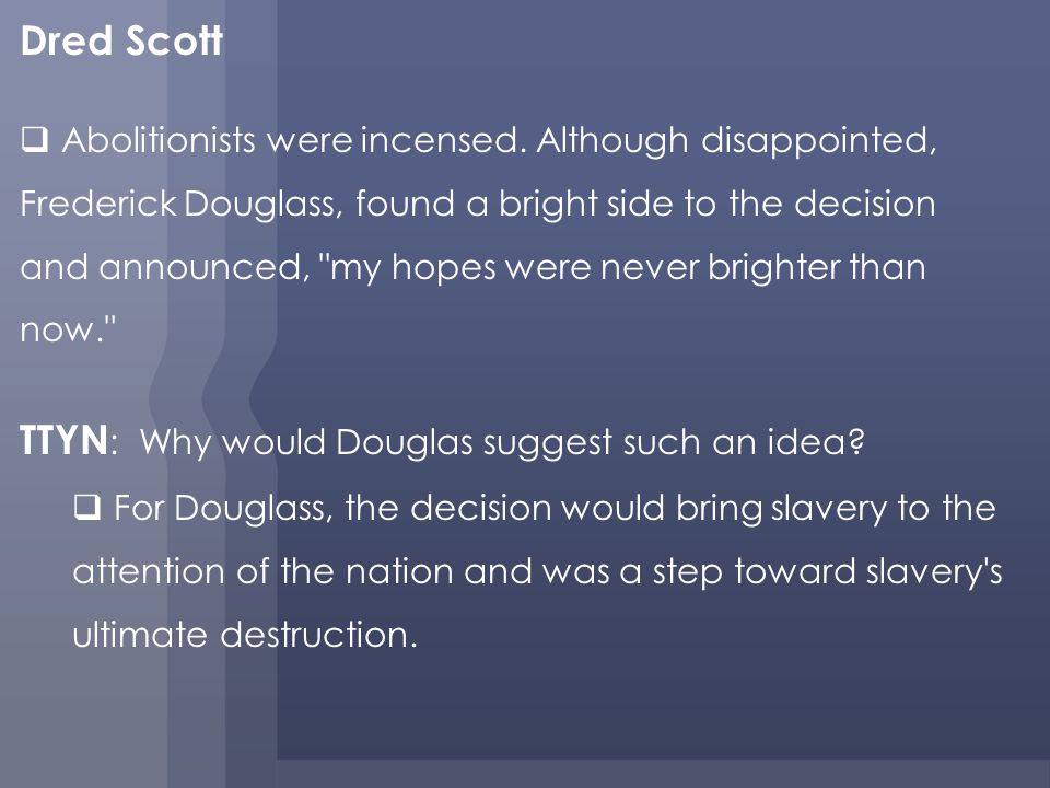 TTYN: Why would Douglas suggest such an idea