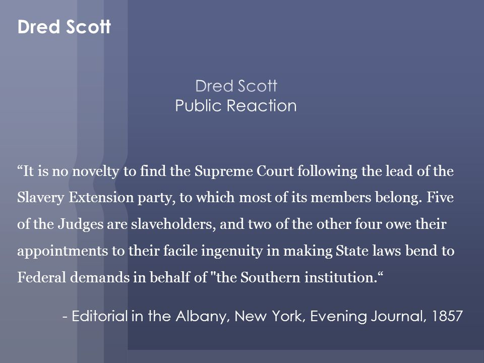 Dred Scott Public Reaction