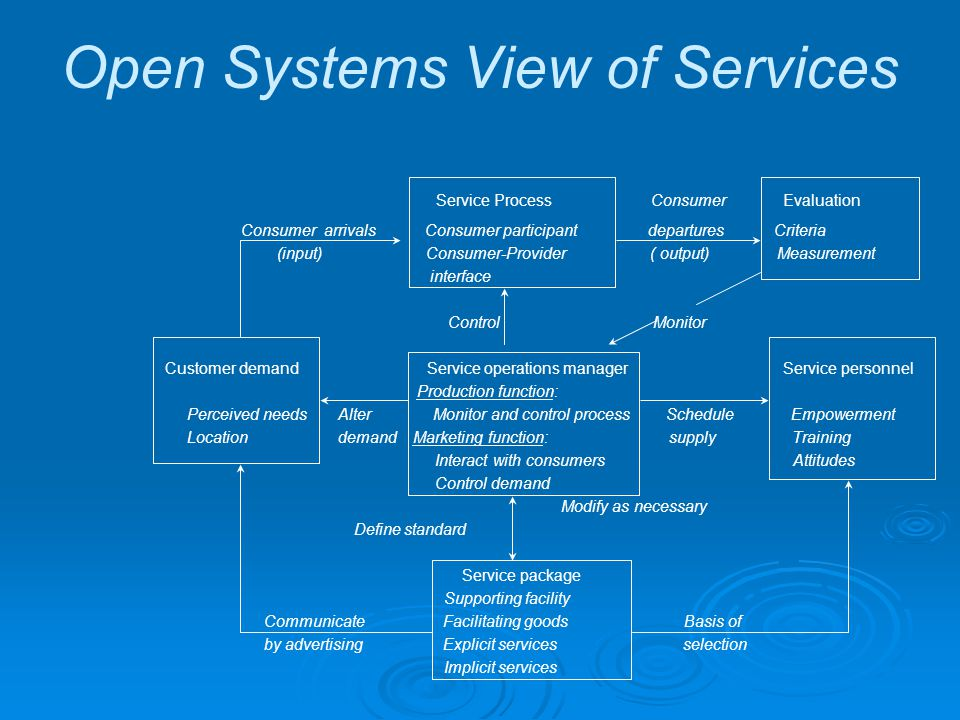 Open Systems View of Services