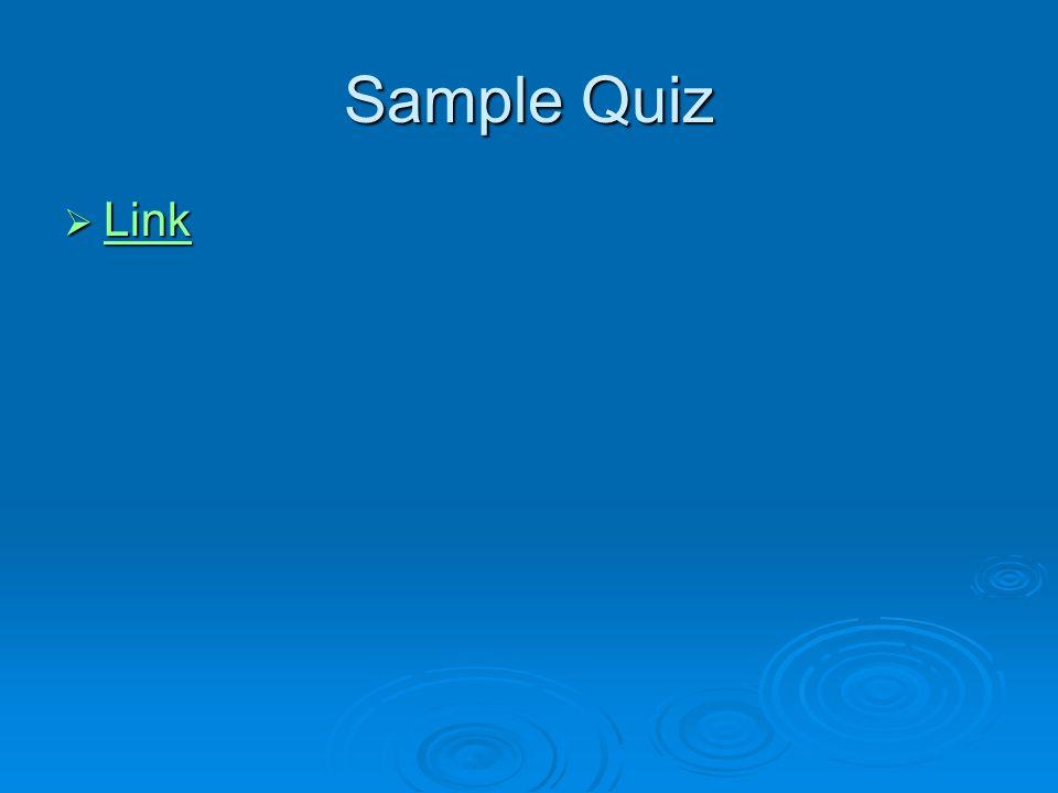 Sample Quiz Link