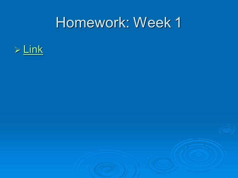 Homework: Week 1 Link