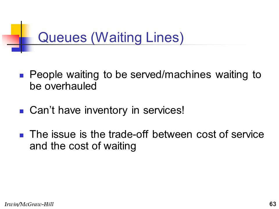 Queues (Waiting Lines)