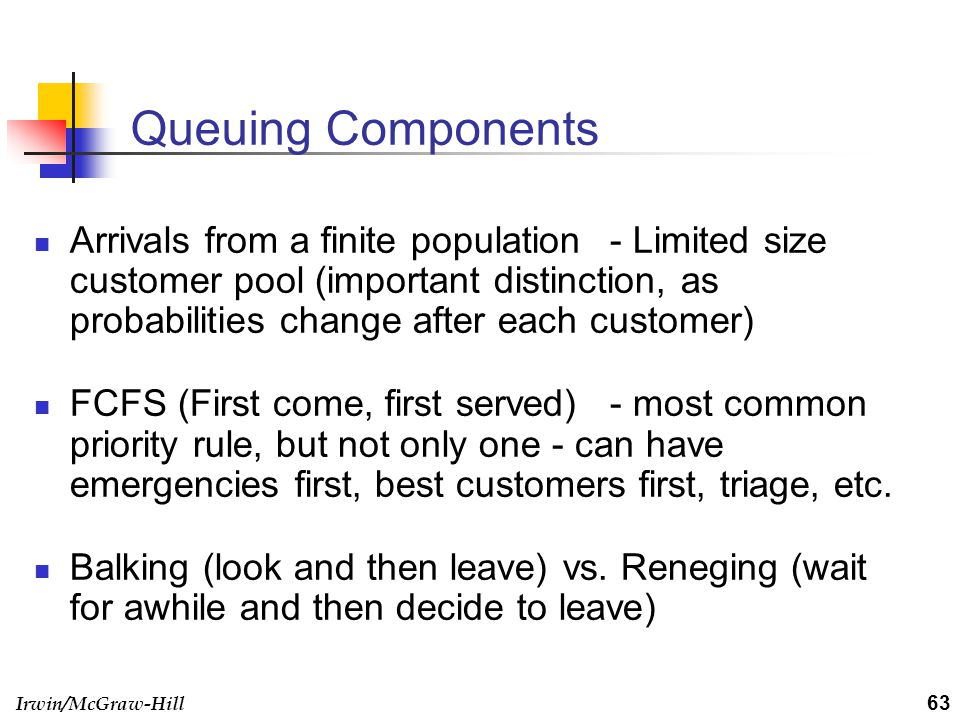 Queuing Components