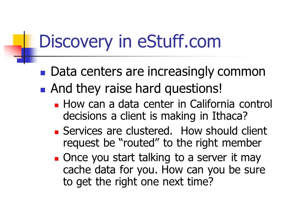 Discovery in eStuff.com