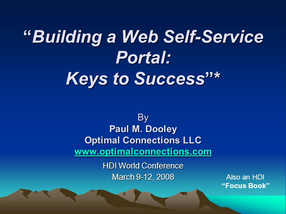 HDI World Conference March 9-12, 2008
