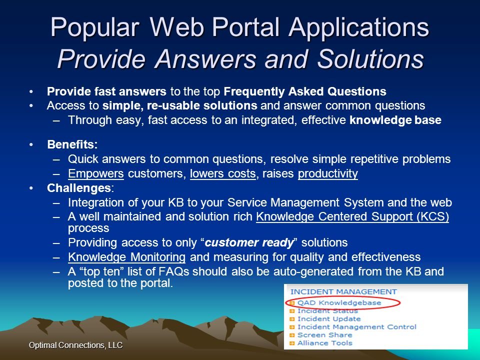 Popular Web Portal Applications Provide Answers and Solutions