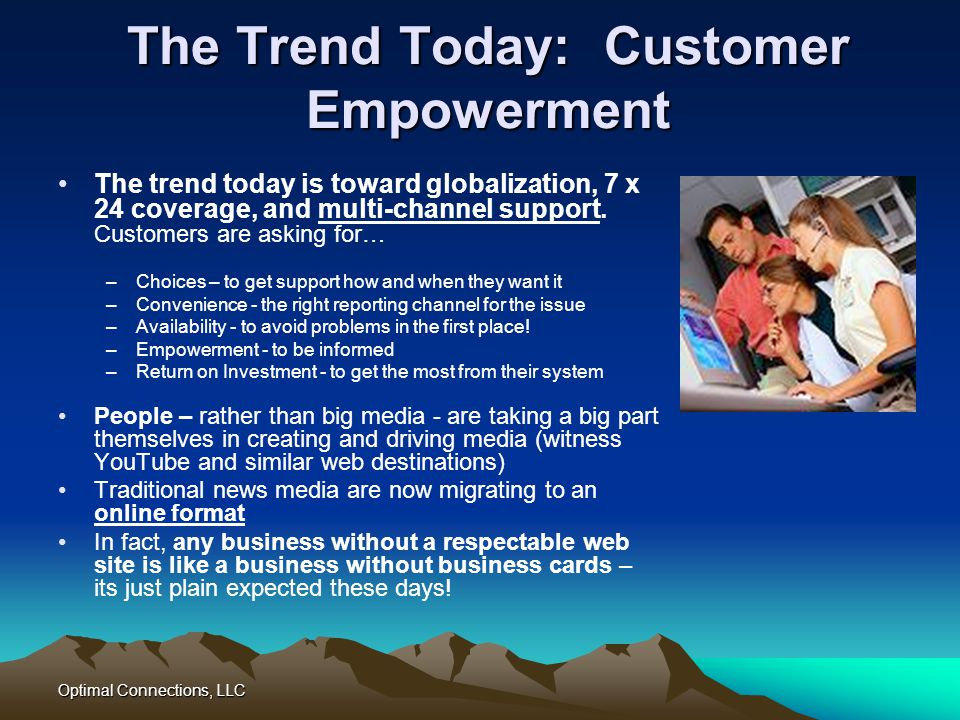 The Trend Today: Customer Empowerment