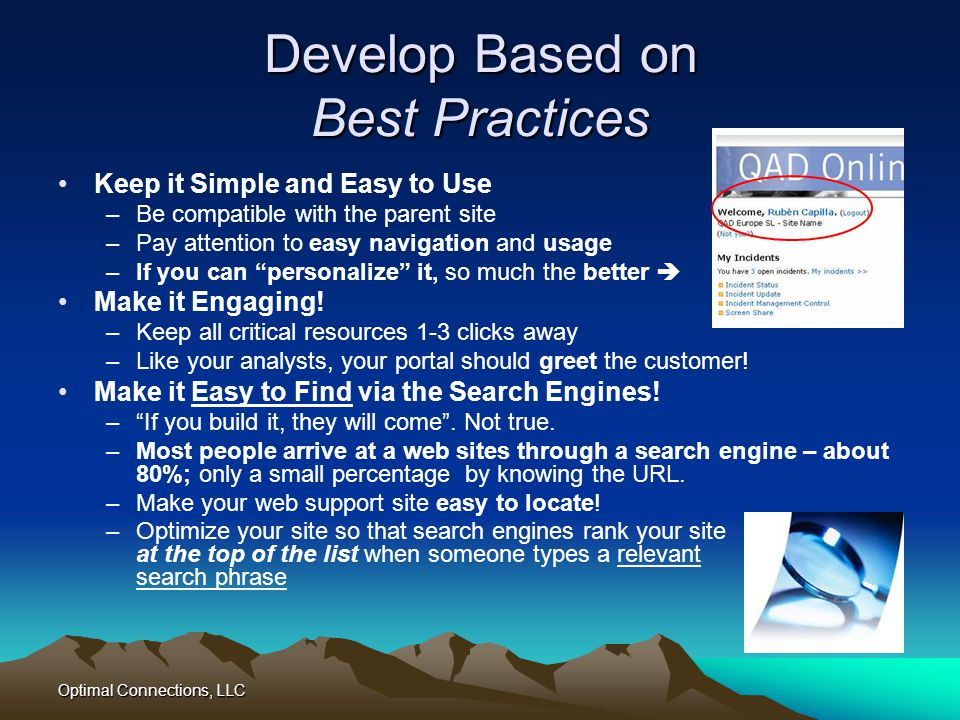 Develop Based on Best Practices
