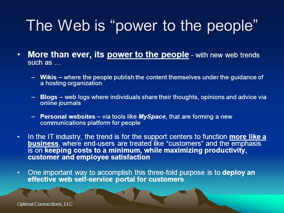 The Web is power to the people