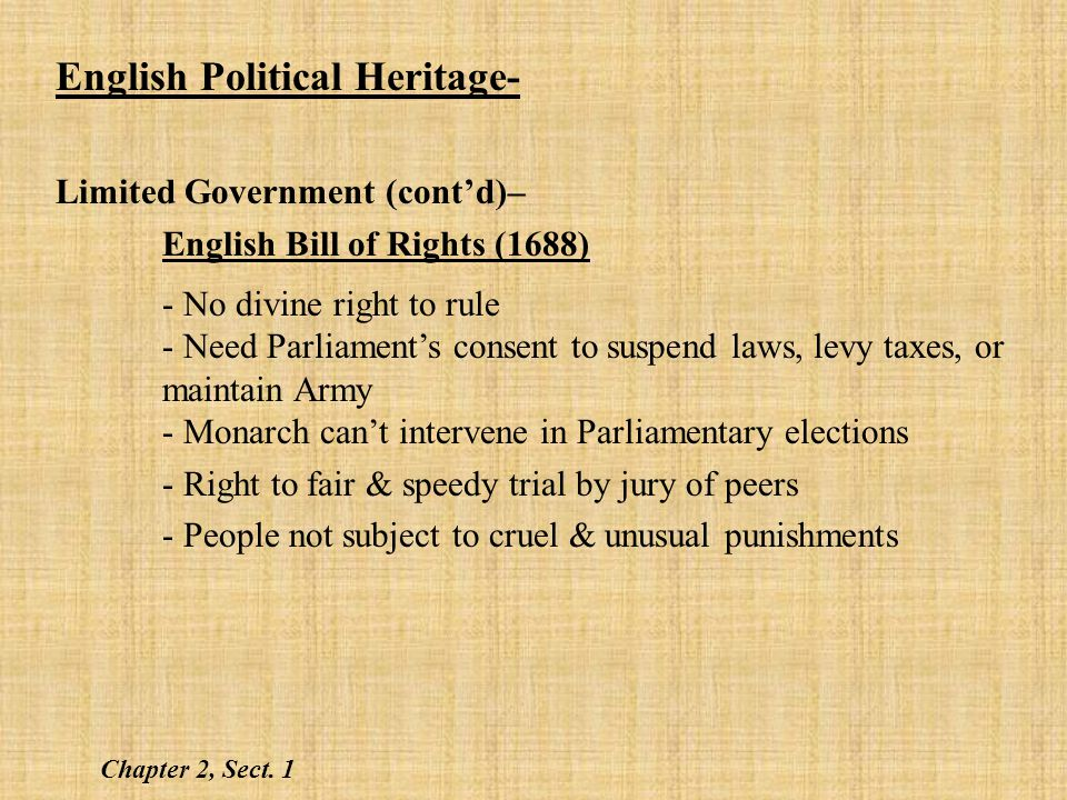 English Political Heritage-