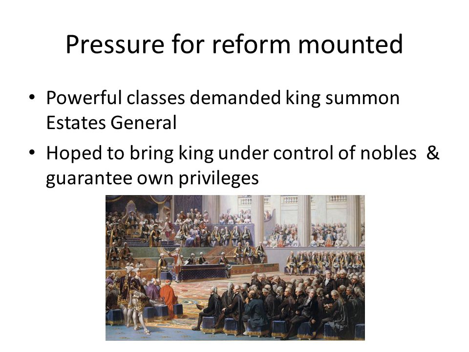 Pressure for reform mounted