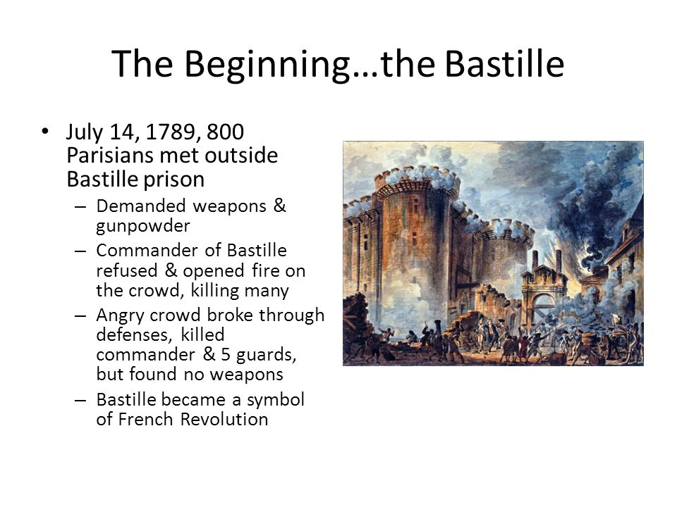 The Beginning…the Bastille