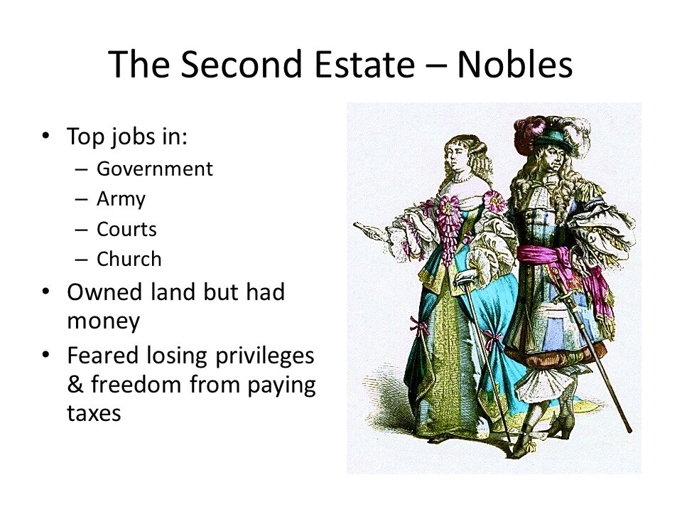 The Second Estate – Nobles