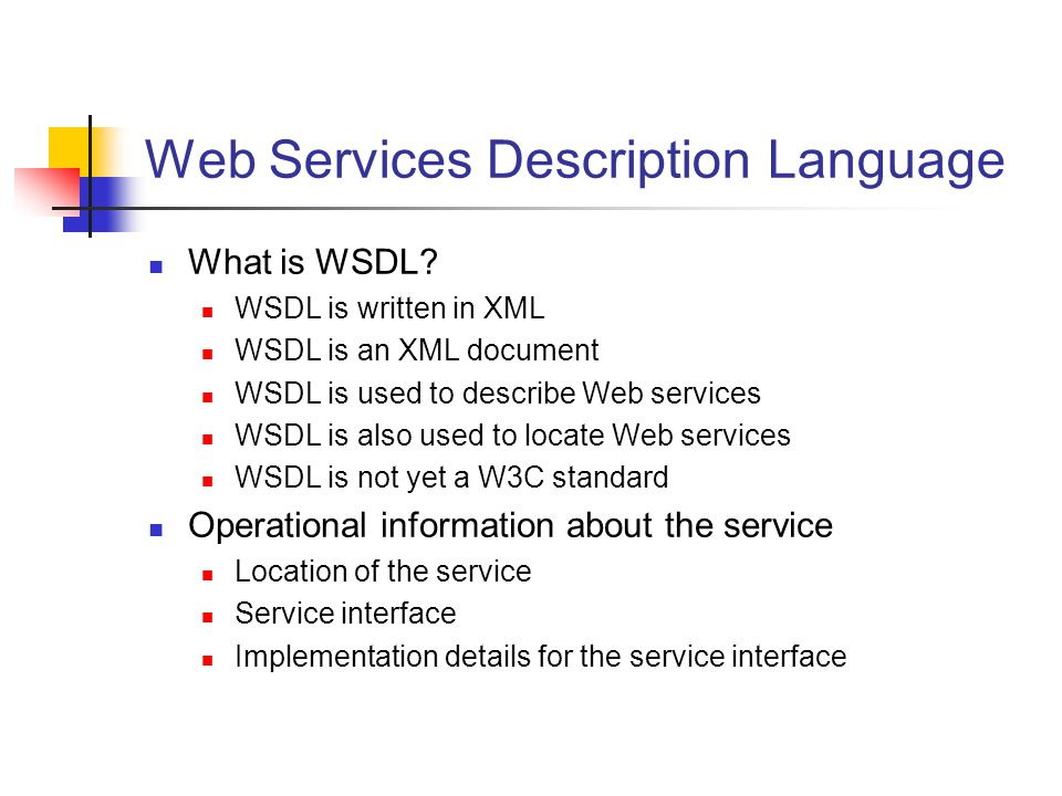 Web Services Description Language