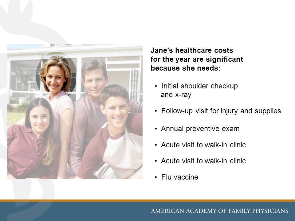 Jane's healthcare costs
