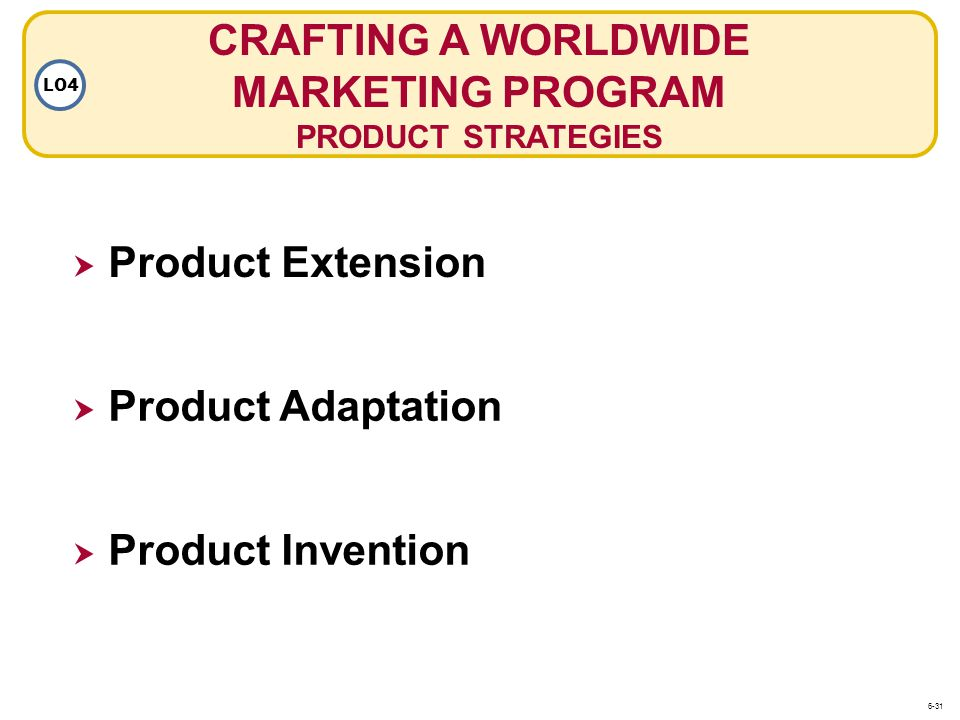 CRAFTING A WORLDWIDE MARKETING PROGRAM