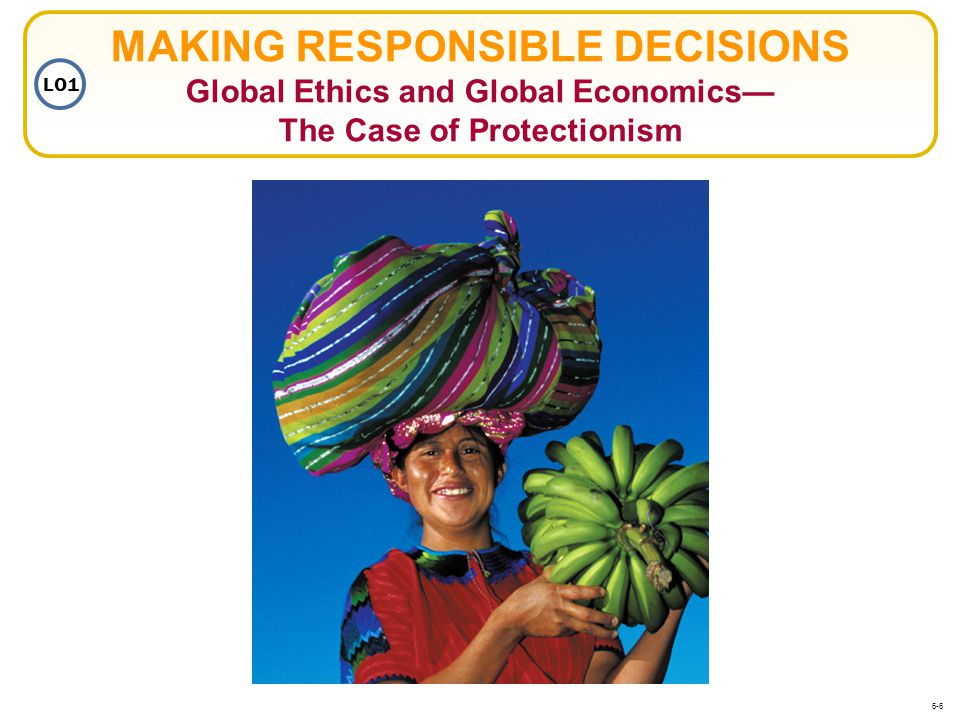 MAKING RESPONSIBLE DECISIONS Global Ethics and Global Economics— The Case of Protectionism